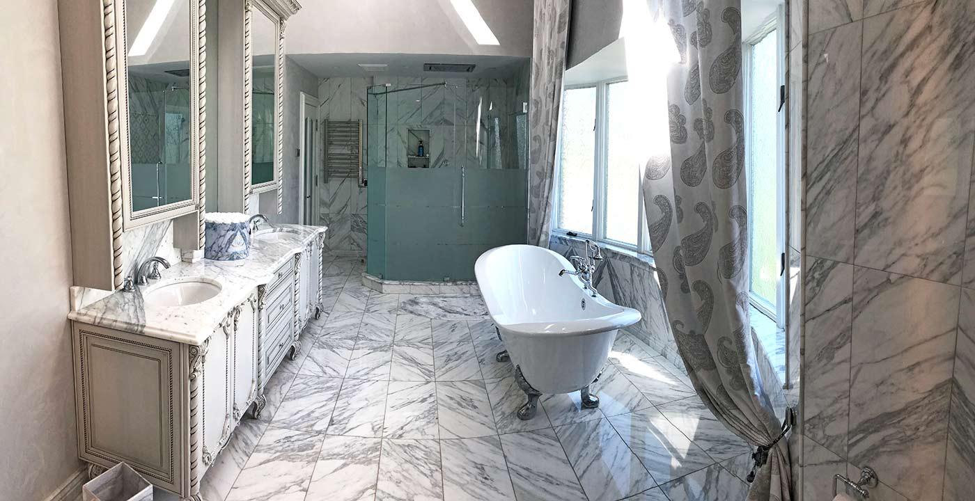 Master Bathroom Kitchen and Bathroom Window Treatment