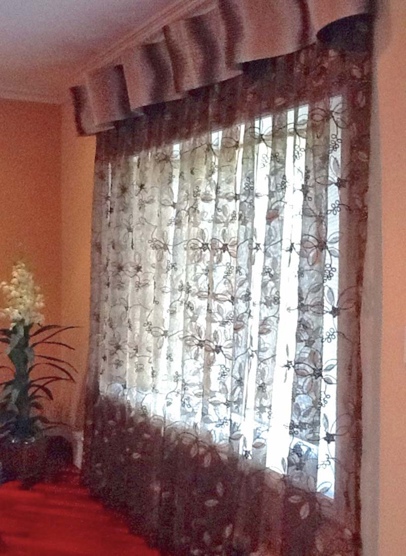 Modern Living Room Window Treatment