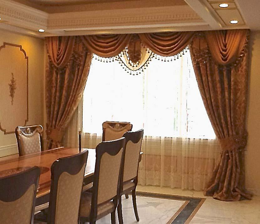Traditional Dinning Room Window Treatment