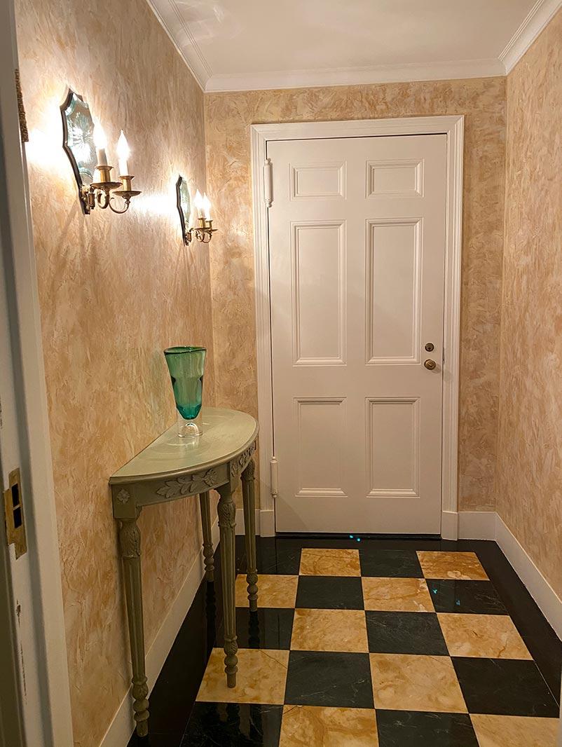 Venetian Stucco in Elevator Room